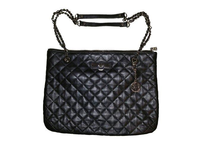 Dkny Handbag Handbags Leather Grey Ref