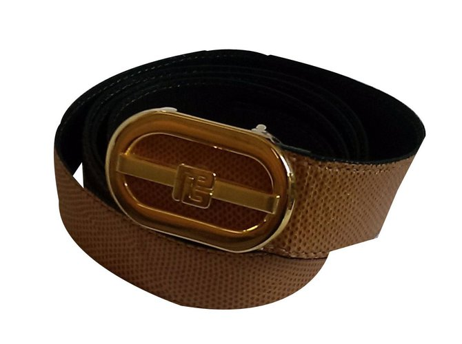 Pierre Balmain Belts Belts Exotic leather Mustard ref.48520