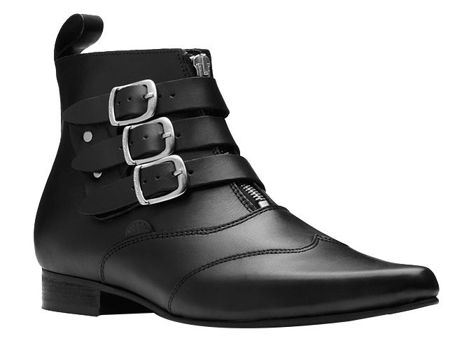 Underground Ankle Boots Black Leather  ref.48615