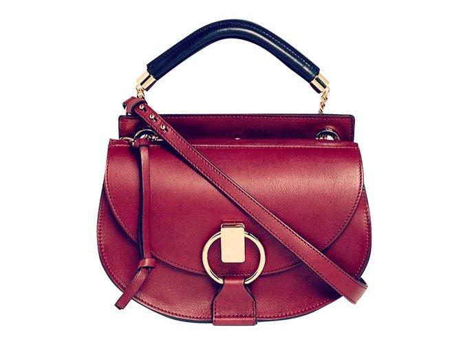 Chloé Handbags Handbags Leather Red,Dark red ref.48733