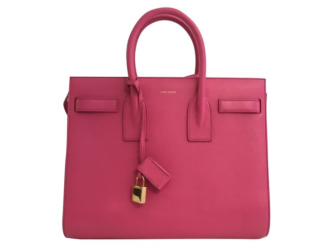 Saint Laurent Saint Laurent Classic Small Sac De Jour Bag Handbags Leather  Pink ref.48739 5ec83d9d142b4