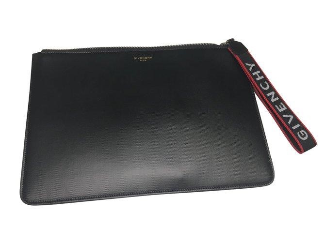 Givenchy Givenchy Clutch Pouch Bag Clutch bags Cotton Black ref.48742 005e01e475326