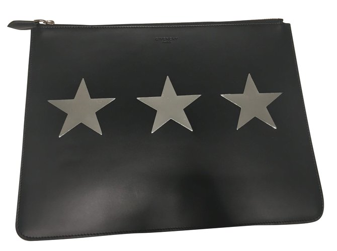 661c66cfbe Givenchy Givenchy Clutch Pouch Bag Clutch bags Leather Black ref.48743