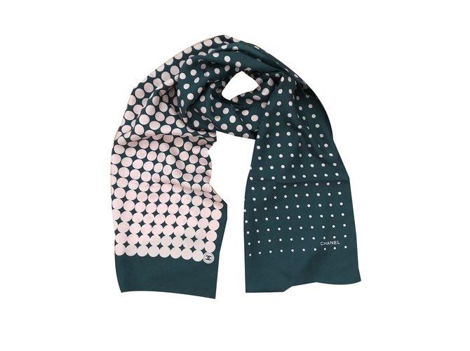 Chanel Scarves Scarves Silk Grey ref.48817