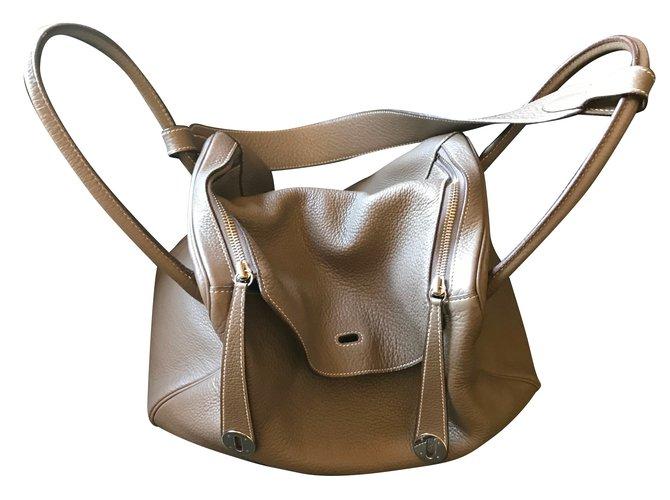 Hermès Lindy 34 Handbags Leather Brown ref.48953