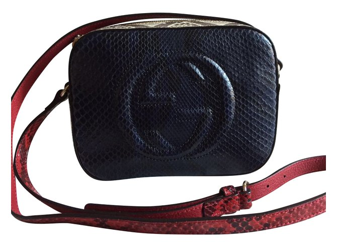 6254a1eba Gucci Disco bag python Handbags Exotic leather Blue ref.48972 - Joli ...
