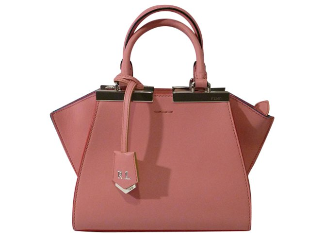ececf2bc0757 Fendi Fendi Mini 3 Jours Satchel Bag Totes Leather Pink ref.49027 ...