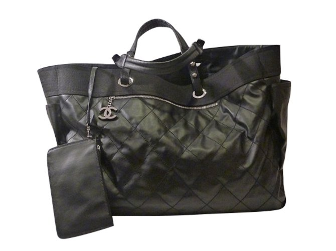 5b073254bff1 Chanel Chanel Paris Biarritz Tote Bag Totes Other Black ref.49029 ...
