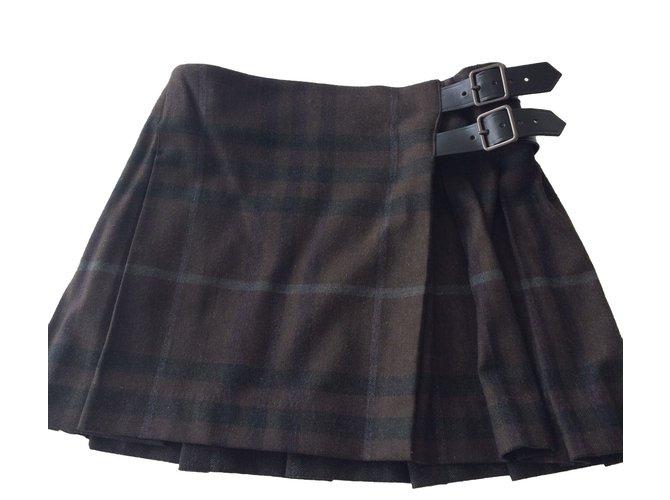 Burberry Skirts Skirts Wool Khaki ref.49207