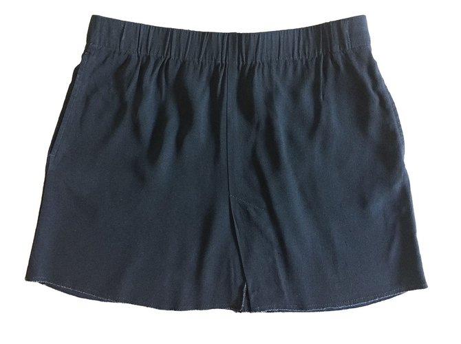Jupes Isabel Marant Etoile jupe courte en crêpe Acetate Noir ref.49238