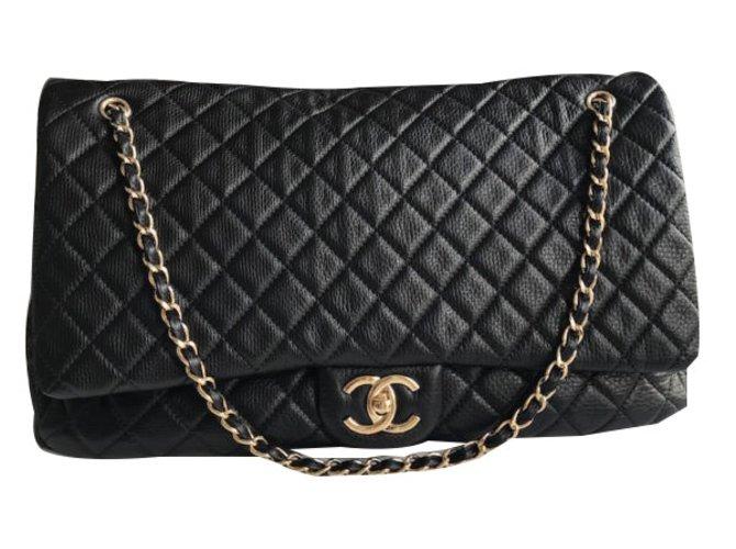 2f69d1e8cd3d Sacs de voyage Chanel Timeless XXL Cuir Noir ref.49262 - Joli Closet