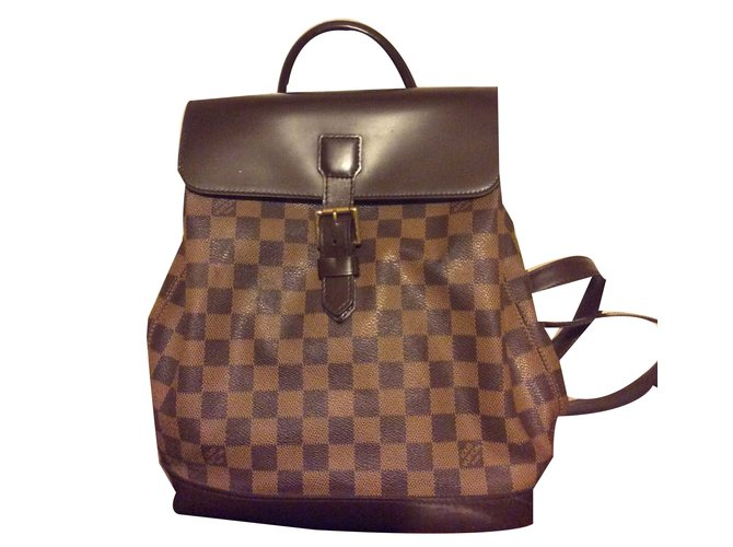 1f026539ec39 Louis Vuitton Louis Vuitton backpack Backpacks Leather Brown ref.49298