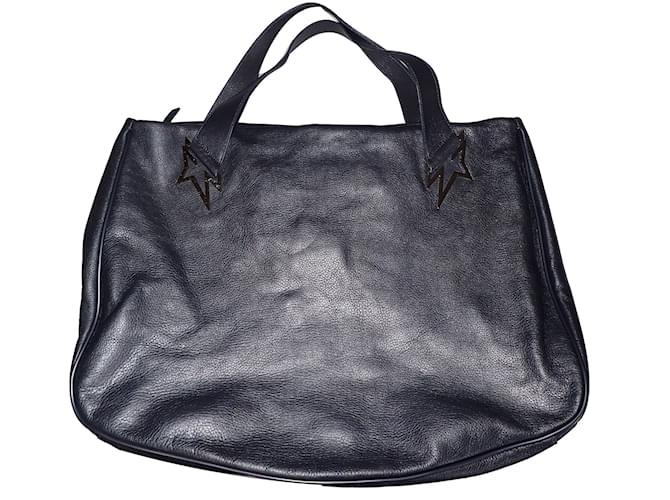 Thierry Mugler Travel Bag Leather Grey Ref 49341