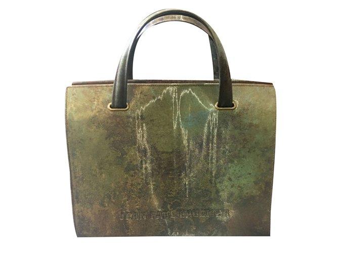 Jean Paul Gaultier Handbags Plastic Green Khaki Ref 49359