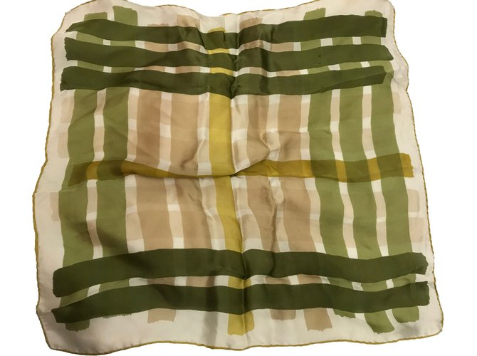 Burberry Silk scarves Silk scarves Silk Beige,Green ref.49440