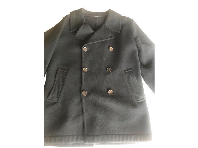 Hermès Men Coat Men Coats Outerwear Wool Black ref.49659