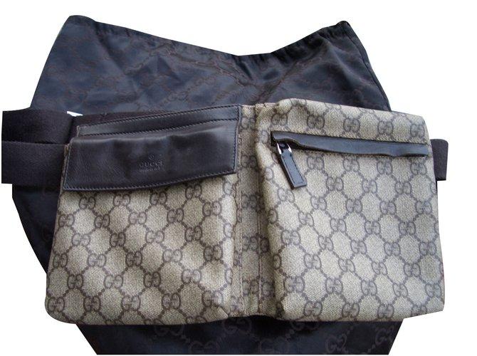 Pochettes Gucci ceinture sac Cuir,Toile Multicolore ref.49693