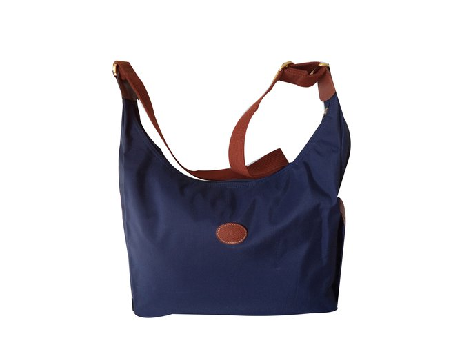0bb7907bf63c Longchamp Bags Briefcases Bags Briefcases Cloth Navy blue ref.49761 ...