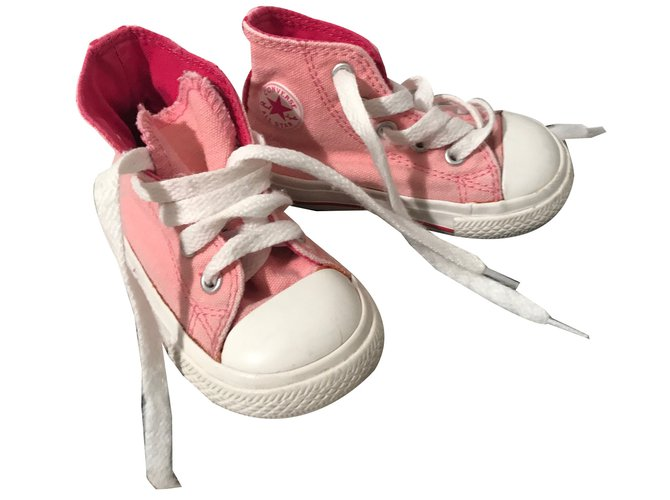 Baskets enfant Converse Chuck Taylor All Star Coton Rose ref.49863