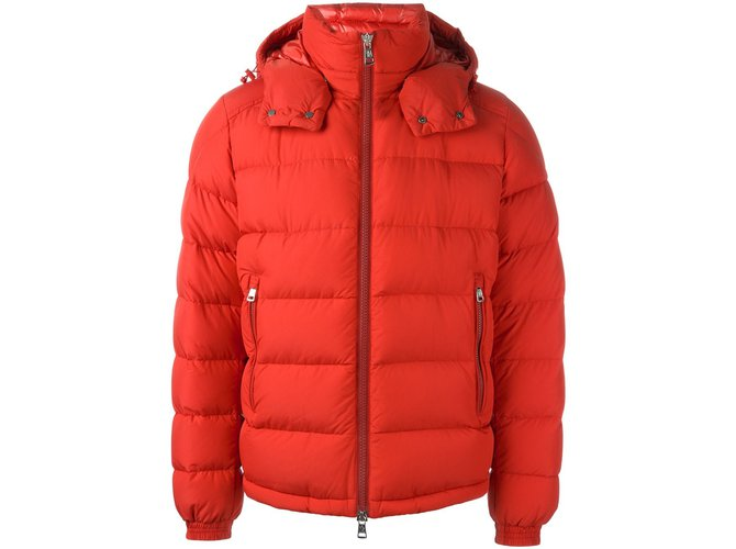 Moncler Moncler 'Brique' padded jacket Blazers Jackets Polyamide Red ref.49979