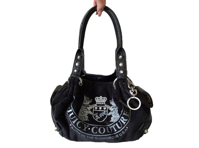 bdd61193ae Sacs à main Juicy Couture Sacs à main Toile Noir ref.50102 - Joli Closet