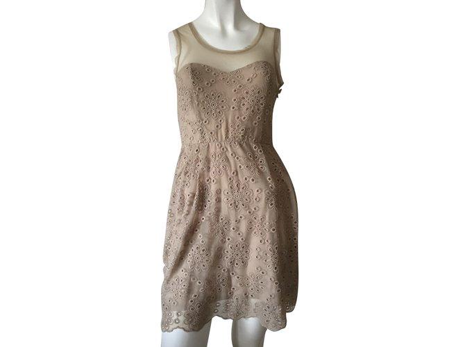 Liu.Jo Dresses Brown Cream Polyamide  ref.50112