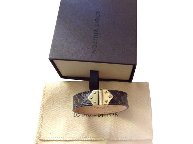 Bracelets Louis Vuitton Spirit monogramme Cuir Autre ref.50195