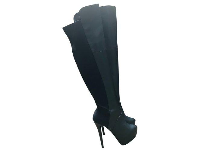 32de1e3ffbf Steve Madden Boots Boots Leather Black ref.50382 - Joli Closet