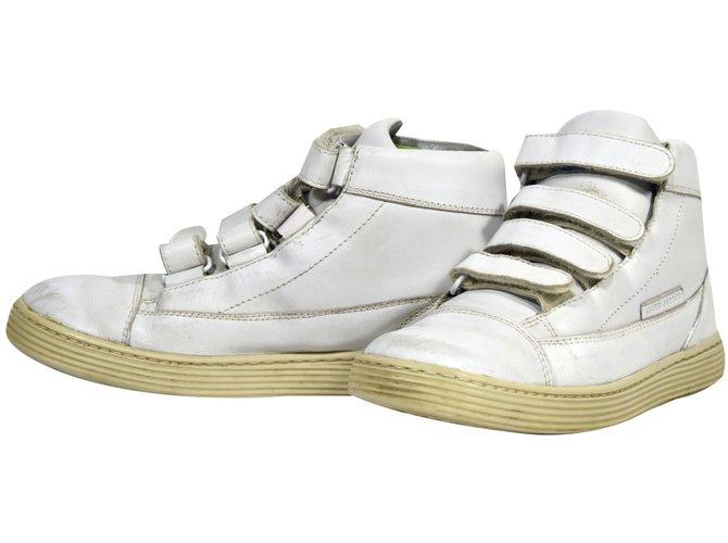 Baskets enfant Autre Marque N198 baskets little marc jacobs cuir blanc t.36 uk 3 Cuir Blanc ref.50524