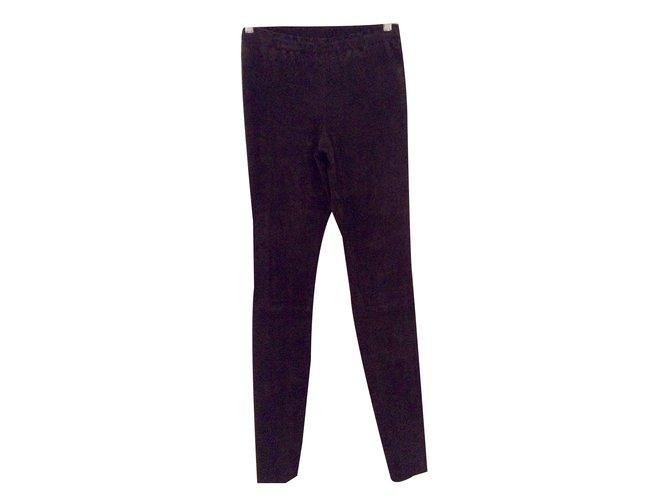 Stouls Pants, leggings Dark brown Leather  ref.50525
