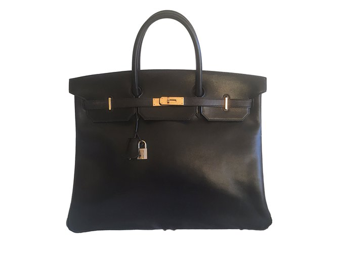 aeccfca62e9 Hermès Birkin 40 Black Box GHW Handbags Leather Black ref.50787 ...