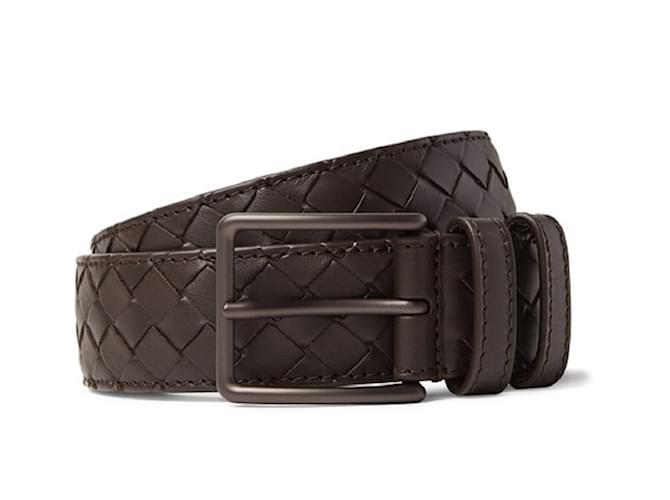 0babf4cf7d24 Bottega Veneta Bottega veneta bnwt men s brown belt Belts Leather Dark  brown ref.50871
