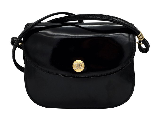 a0764928e0 Céline Handbags Handbags Patent leather Black ref.50885 - Joli Closet