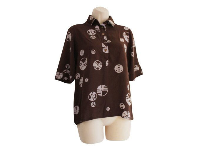 Chloé Tops Tops Silk Brown ref.50923