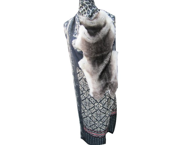 Pierre Louis Mascia Fancy Orylag Grey Silk Fur  ref.50991