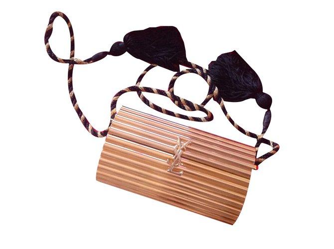cdefad076bb Yves Saint Laurent VINTAGE Clutch bags Clutch bags Steel Golden ref.51038