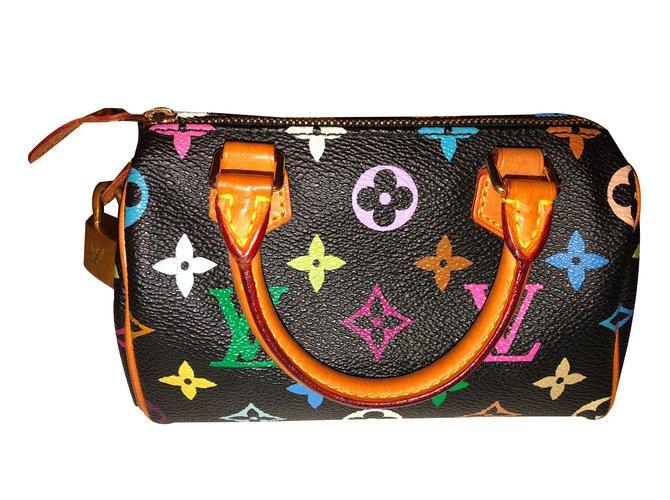 c4b9409bd860 Louis Vuitton Louis Vuitton Mini Speedy HL Black Multicolour Handbags Cloth  Multiple colors ref.51060