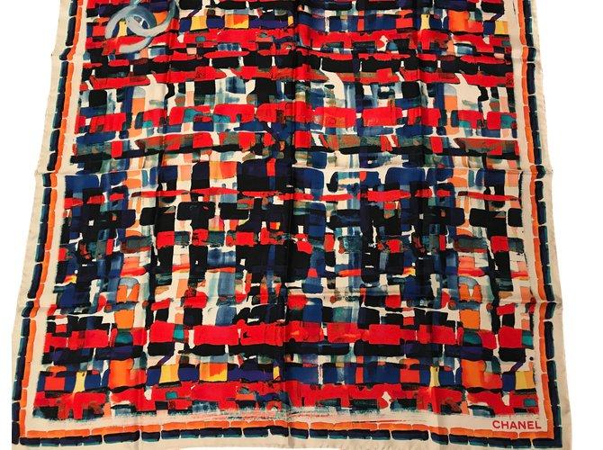 Chanel Scarves Scarves Silk Multiple colors ref.51234