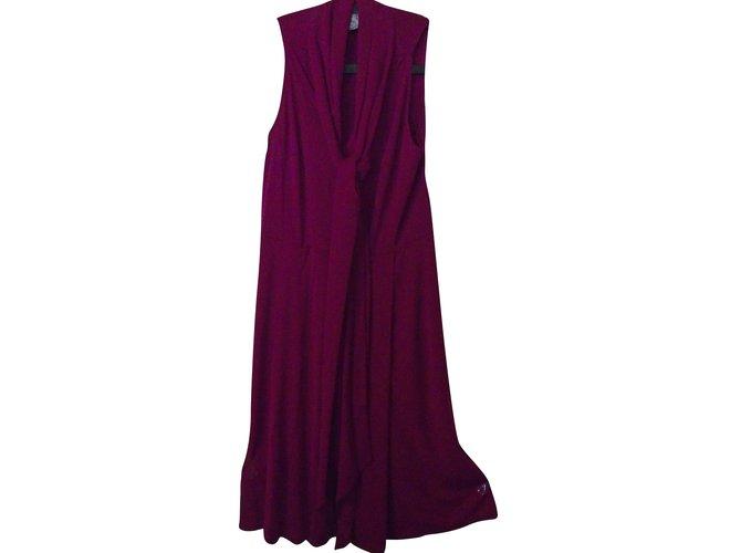 Céline Dress Dresses Viscose Purple ref.51236