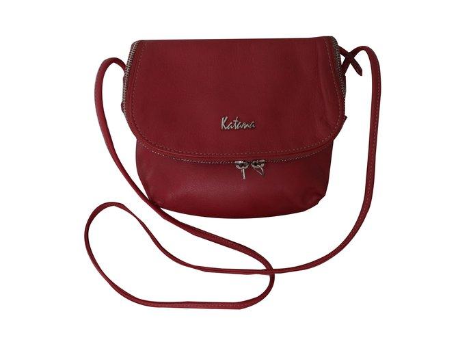 Katana Handbags Leather Red Ref 51473