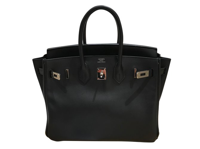 f6028050d1 Hermès HERMES Birkin 25 Handbags Leather Black ref.51521 - Joli Closet