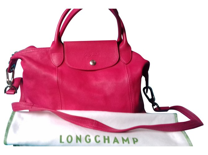 d7b87b2e09 Sacs à main Longchamp Longchamp pliage CUIR fushia Cuir Rose ref.51583