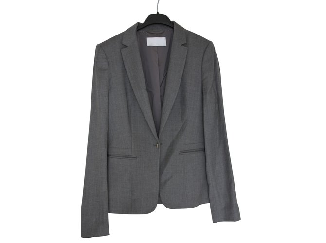 ad8815872 Hugo Boss Skirt suit Skirt suit Wool Grey ref.51673 - Joli Closet