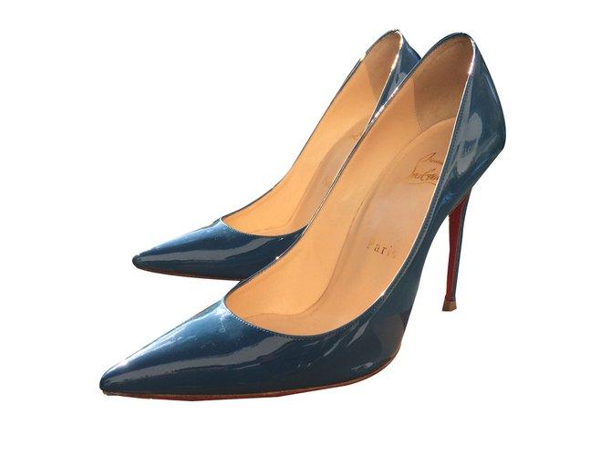 louboutin escarpins bleu