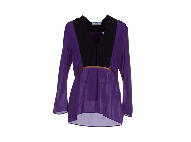 084101d8bd7456 Prada Prada - silk blouse Tops Silk Multiple colors ref.51943 - Joli ...