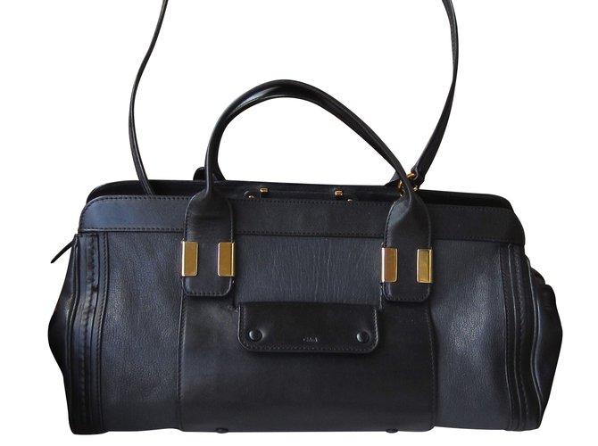 Chloé Alice Handbags Leather Black ref.51952