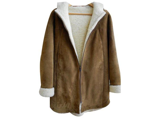 manteaux bash manteau peau retourn e bash autre cognac joli closet. Black Bedroom Furniture Sets. Home Design Ideas