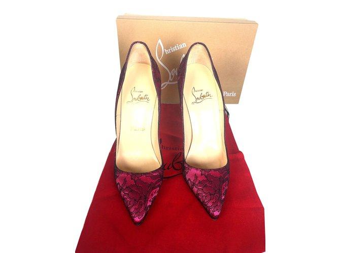 a1f561a83b Christian Louboutin Pigalle Heels Leather,Lace Pink ref.52192 - Joli ...
