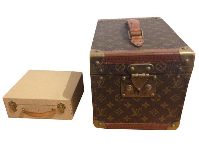 Sacs de voyage Louis Vuitton vanity Cuir Marron ref.52198