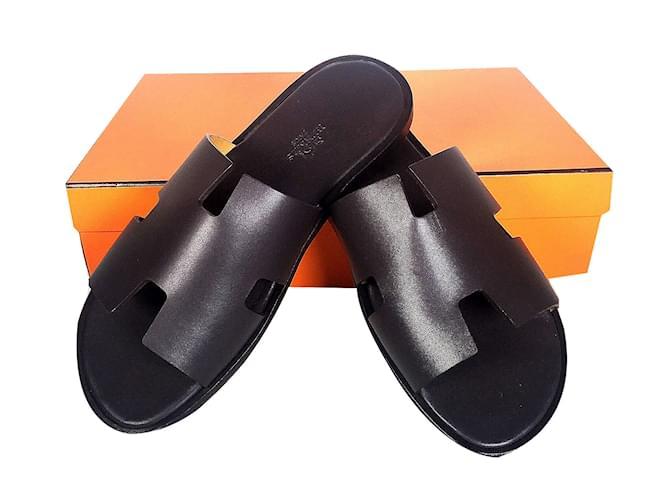 Sandales 52200 Ref Homme Noir Joli Closet Cuir Hermès Izmir CZ6q4w